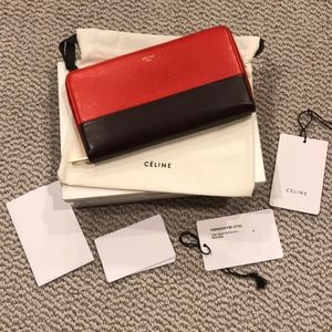 Celine Bags - Celine Large Color Block Wallet